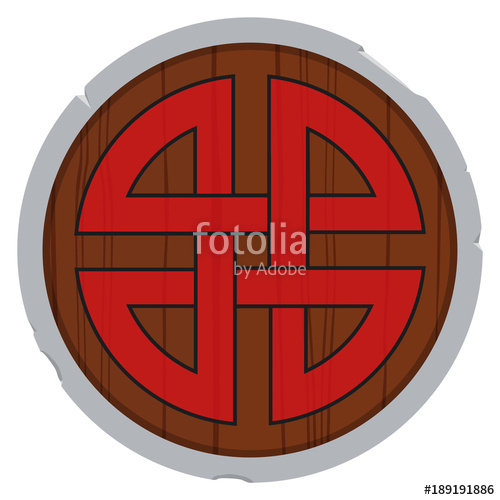 500x500 Viking Shield Vector Stock Image And Royalty Free Vector Files On