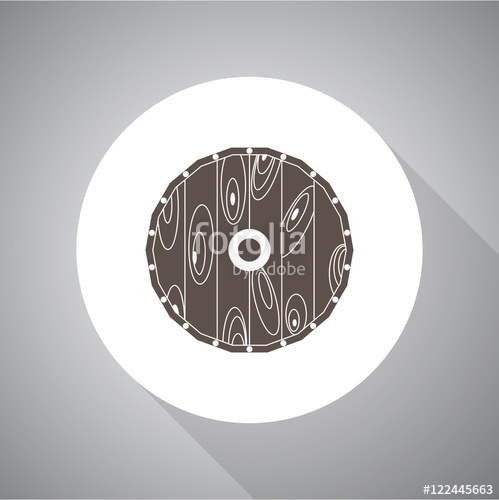 499x500 Viking Shield. Flat Style. Vector Simple Icon Stock Image And