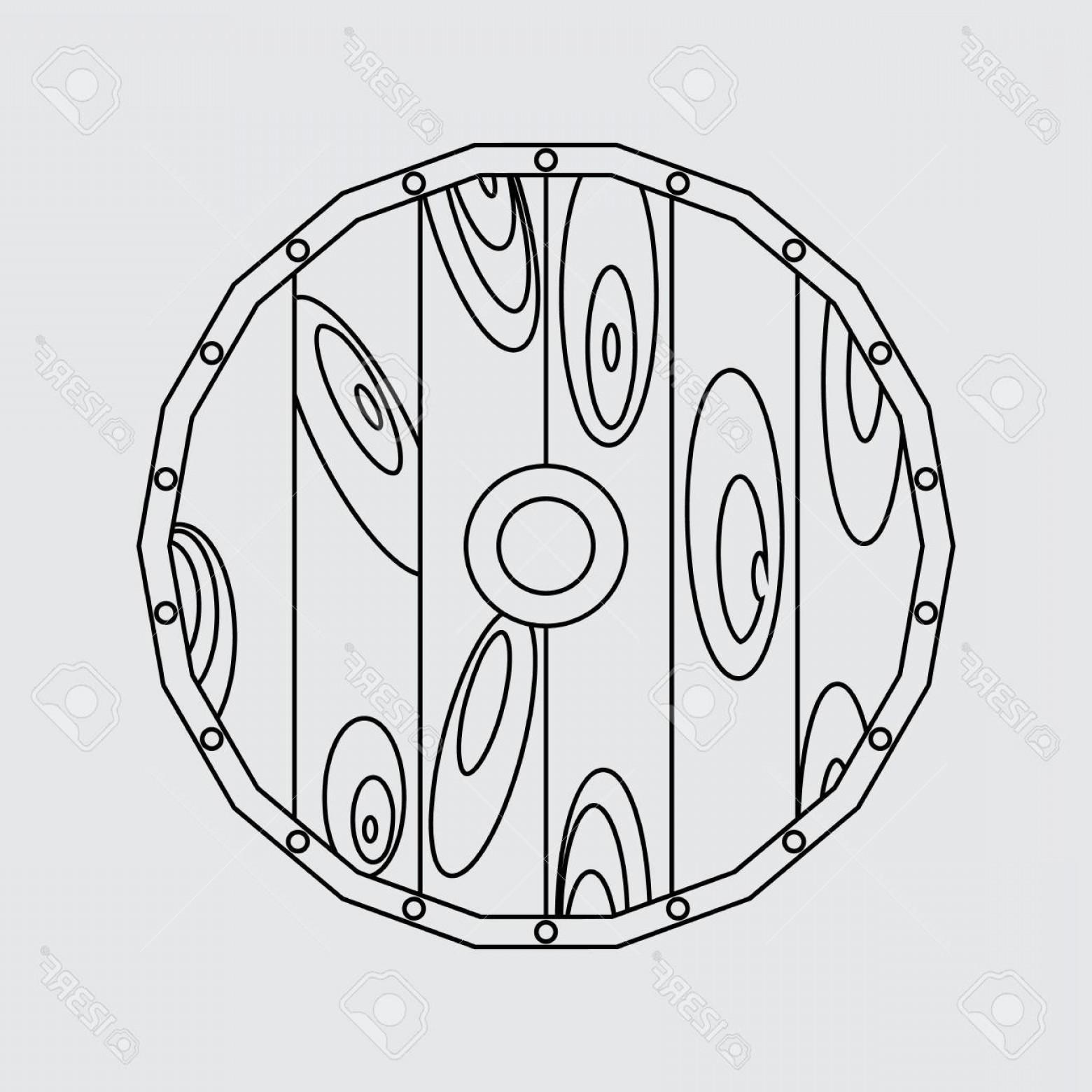 1560x1560 Photostock Vector Viking Shield Flat Style Vector Line Icon