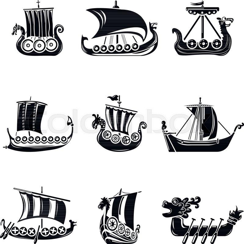 Viking Ship Vector at GetDrawings | Free download