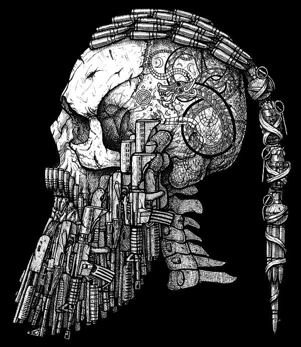 600x693 Drawn Viking Viking Skull
