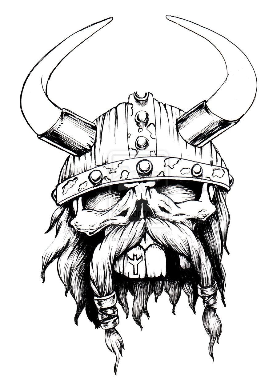 900x1258 Viking Viking Skull By Biomek Stuff To Buy