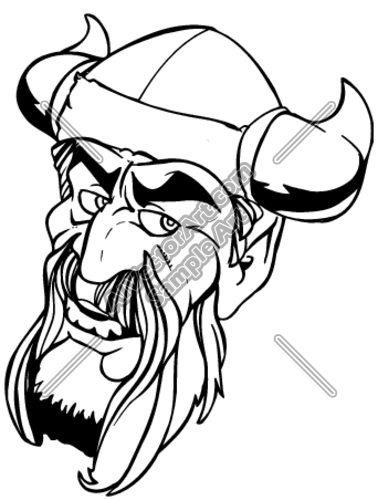 378x500 Viking Bearded Head Graphic Clipart And Vectorart Sports Mascots