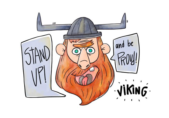 700x490 Cartoon Character Viking Vector