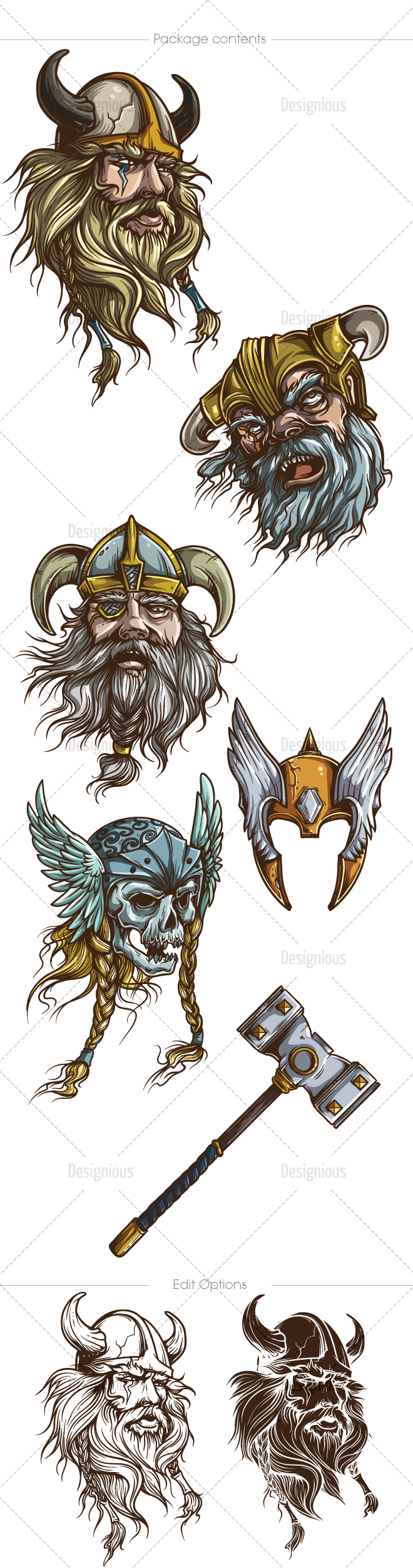 660x2500 Vikings Vector Pack 1 In 2018 Free Vectors Vikings
