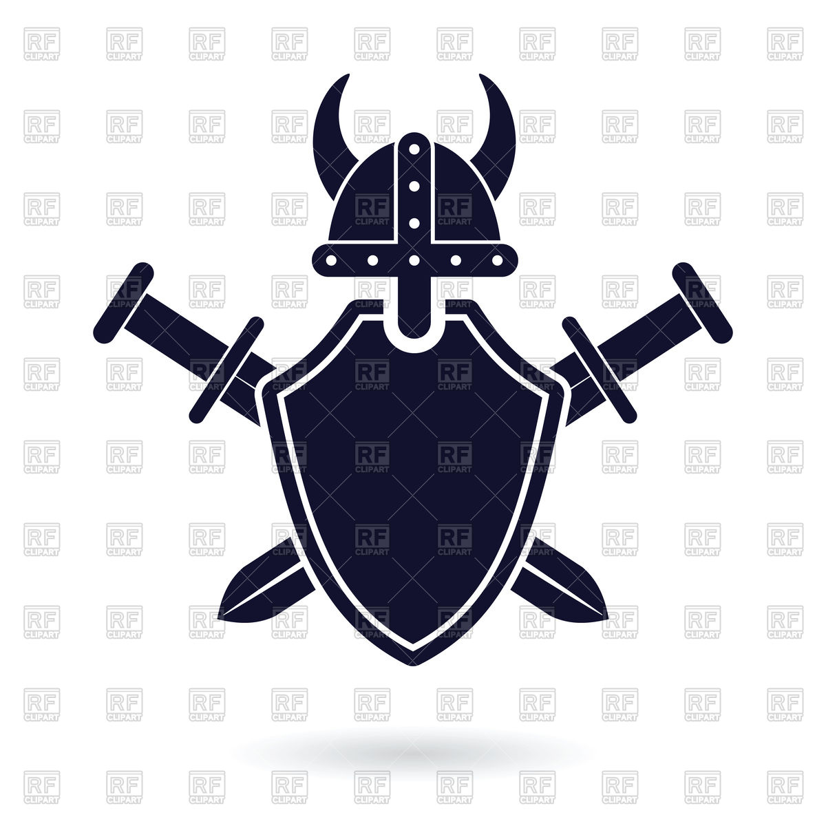 1200x1200 Shield Of Viking And Crossed Swords