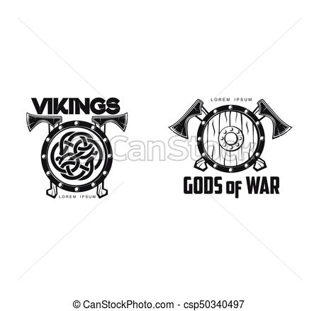 450x439 Vector Vikings Icon Logo Simple Flat Isolated. Vector Vikings Gods