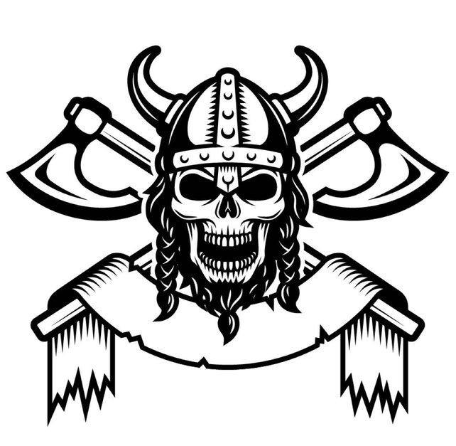 642x627 Viking Logo 1 Skull Helmet Horns Axes Warrior .svg .eps .png Etsy