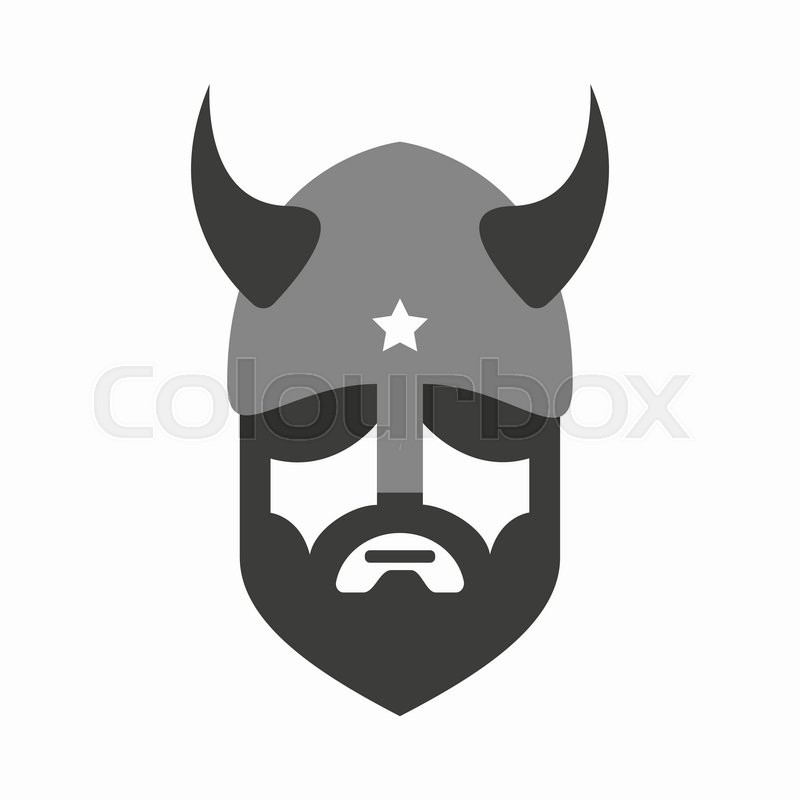 800x800 Viking Head Logo Vector Design. Head Of Warrior Symbol Or Icon