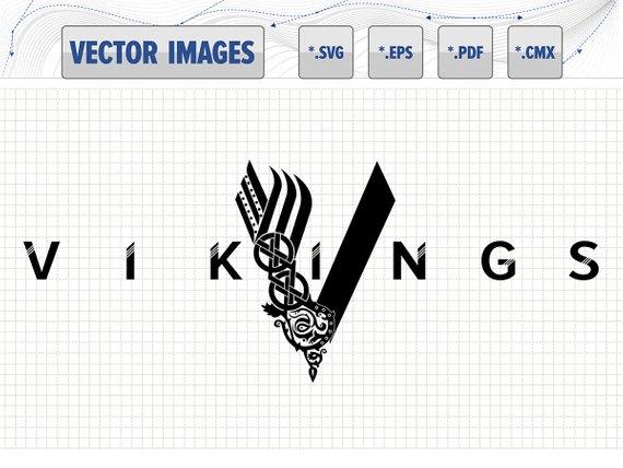 570x428 Vikings Logo Vector Graphic Svg Eps Pdf Cmx And Raster Etsy