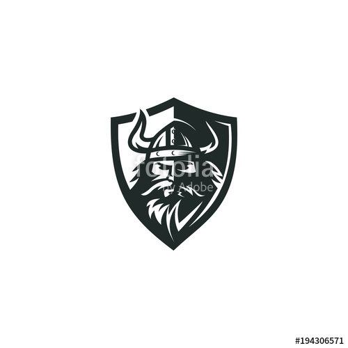 500x500 Viking Logo Vector Graphic Abstract Download Template Stock Image