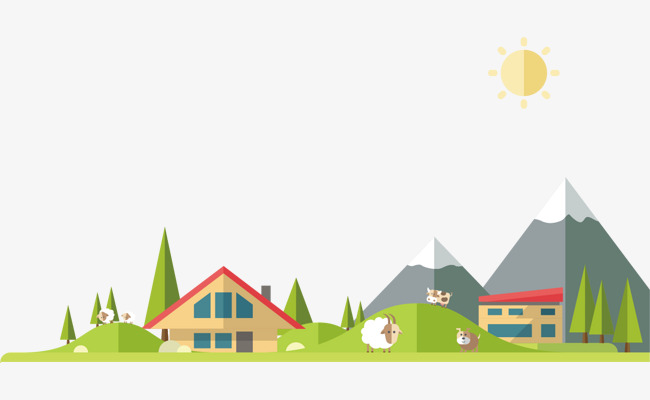 650x400 Png Village House Vector Material, House, Vector House, Creative