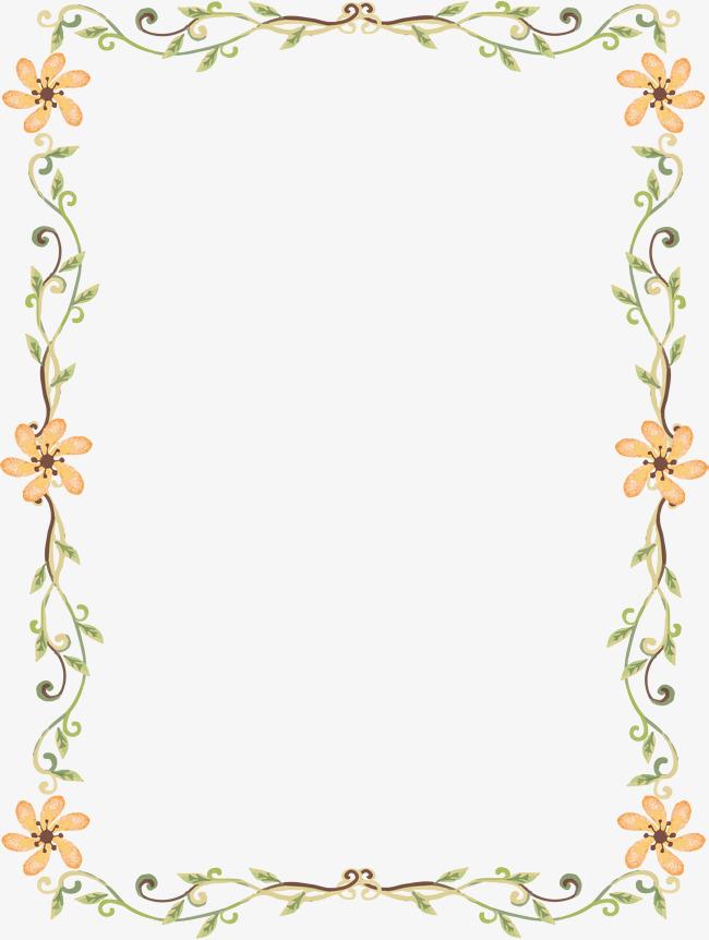 650x862 Romantic Little Daisy Border, Border Vector, Vector Png, Romantic