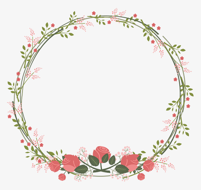 650x617 Vector Hand Painted Vines Border, Hand Drawn Border, Summer Border