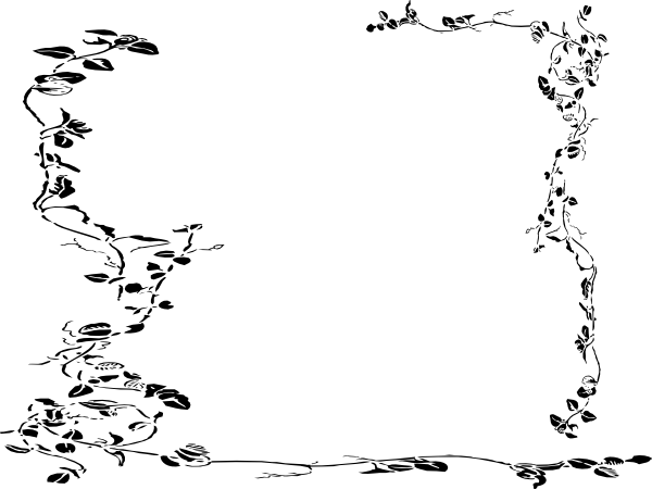 600x450 Vine Border Clip Art