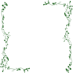 300x300 Vine Border Green Clip Art