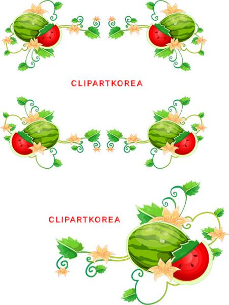 450x600 Watermelon Vine Border Vector Free Vector In Adobe Illustrator Ai