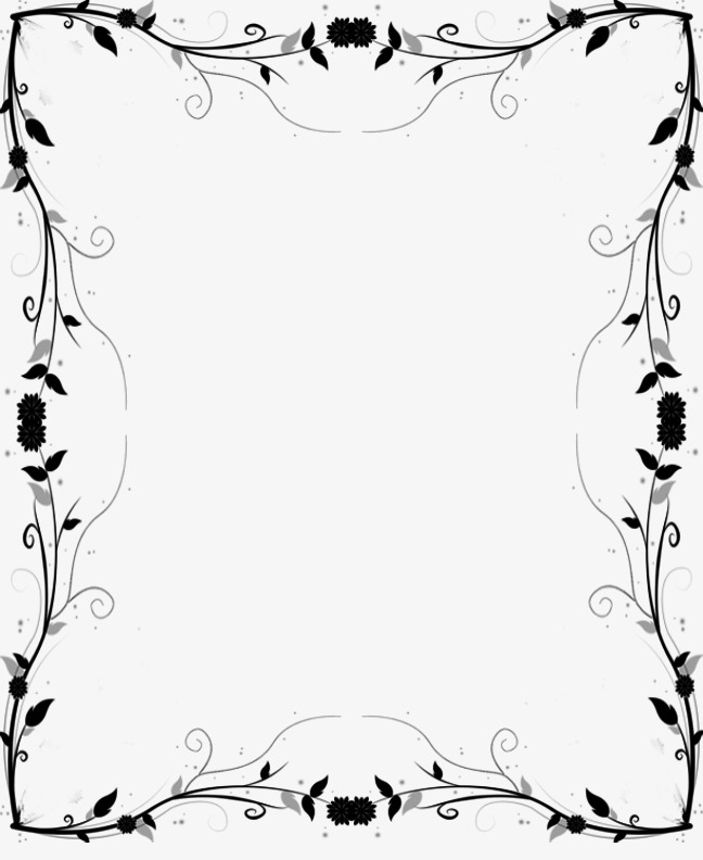648x792 Flower Vine Border, Flower Vector, Vine Vector, Border Vector Png
