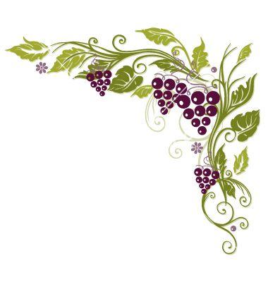 380x400 Grape Vine Border Vine Grapes Border Vector In 2018