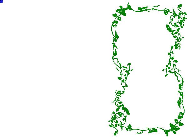 600x440 Green Ivy Vine Border Clip Art