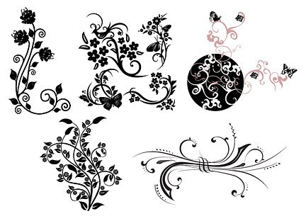 425x305 Free Practical Butterfly Vine Pattern Clipart And Vector Graphics