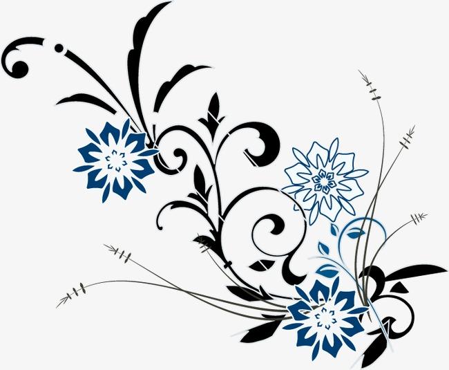 650x535 Hand Painted Flowers Flower Vine Pattern, Flower Vector, Vine