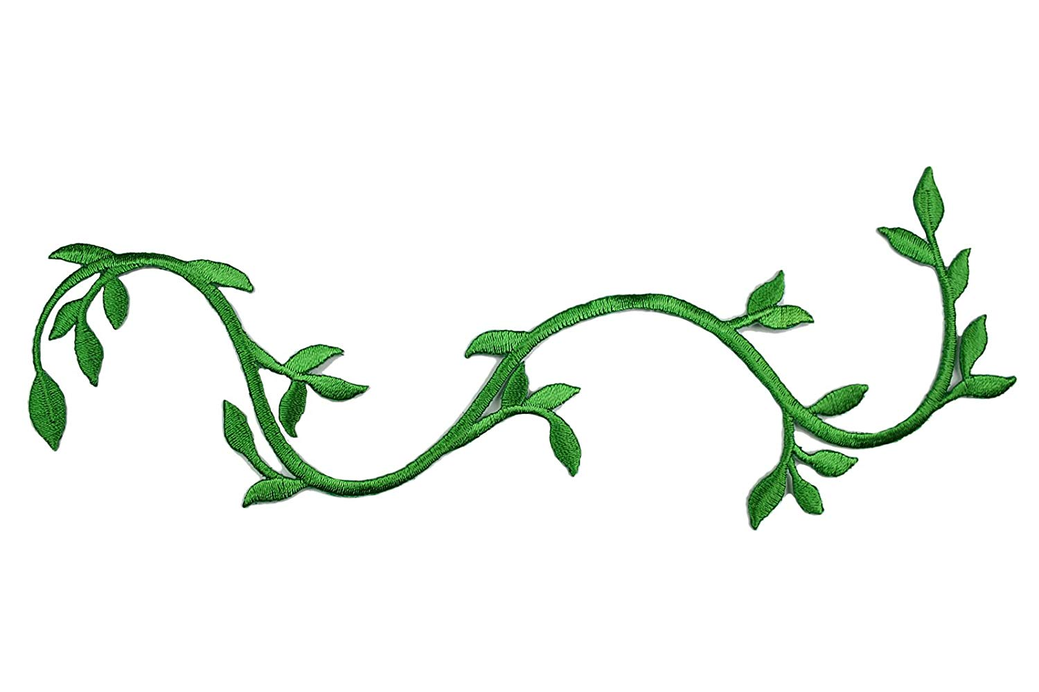 1500x1000 Altotux Green Embroidered Plant Stem Vine Patch Iron