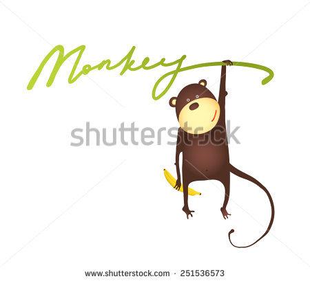 450x409 Chibi Monkey Vector Cartoon Download Free Vector Art Stock Monkey