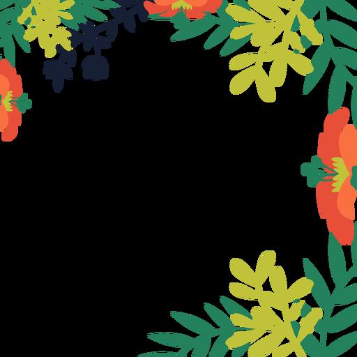 512x512 Orange Flower Vines Background