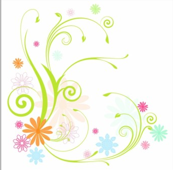 342x337 Scrolly Vines And Flowers Vector Ai,eps Format Free Vector