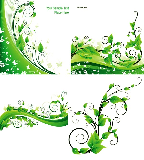 600x667 Spring Leaves On Vines Graphics Collection My Free Photoshop World