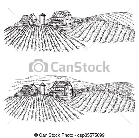 450x448 Landscape With Fields And Villages. Vineyard. Landscape With