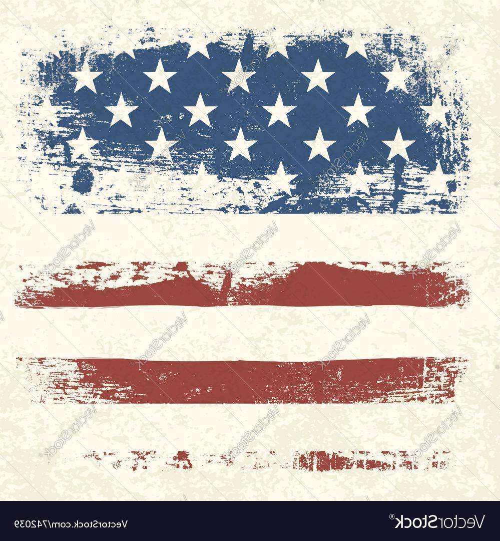 999x1080 Gallant American Flag Vintage Textured Background Vector Image