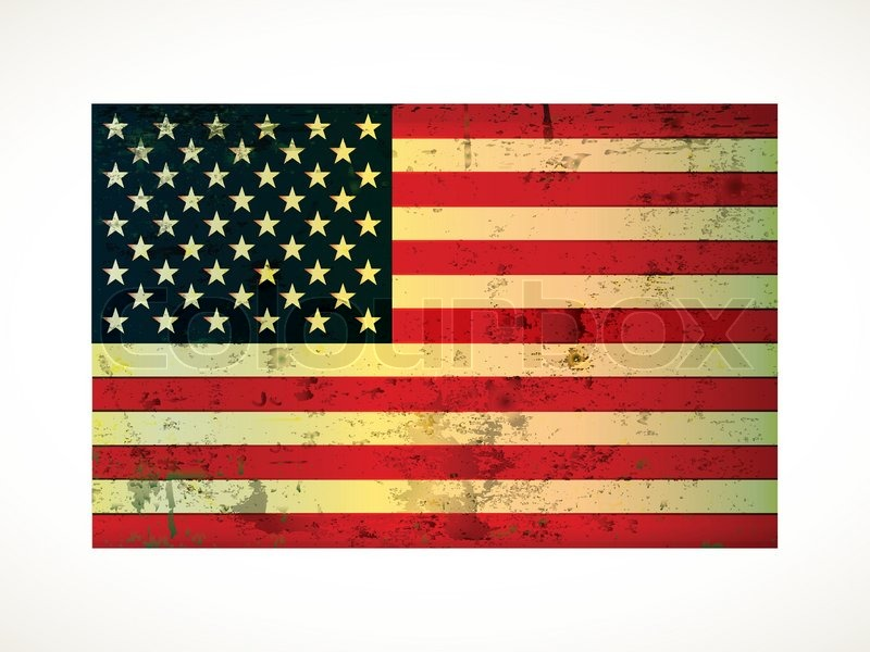 800x600 Old Vintage American Flag Grunge On Paper Stock Vector Colourbox