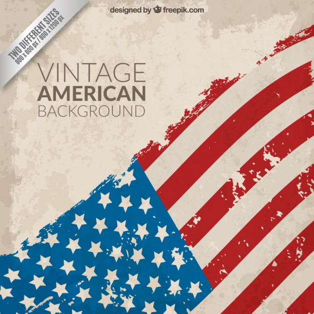 626x626 Vintage American Flag Background Vector Free Download