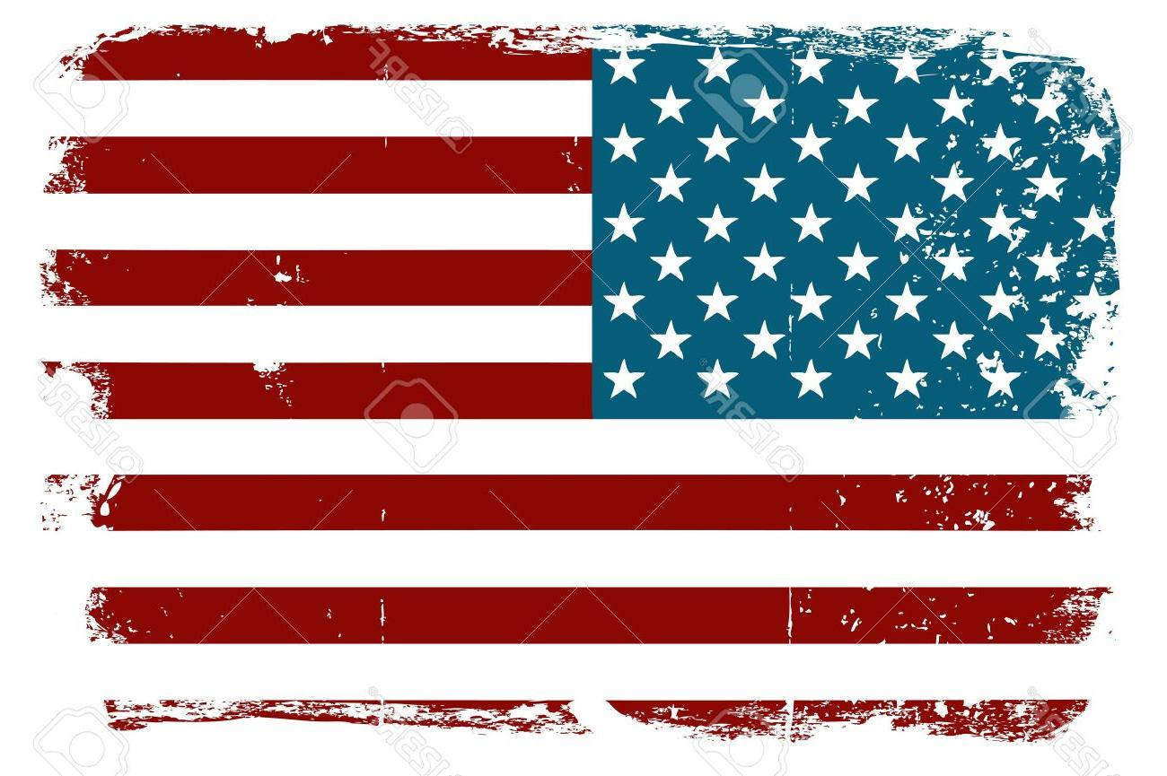 1300x865 Best Distressed American Flag Vector Art File Free