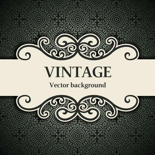 500x500 Decor Pattern With Vintage Background Vector 01 Free Download