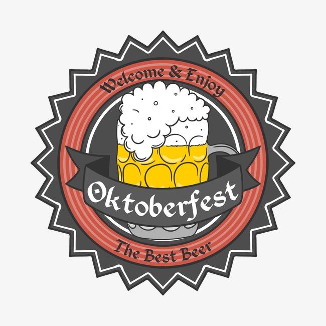 650x650 Vintage Background Oktoberfest Beer Badge, Vintage Vector, Beer
