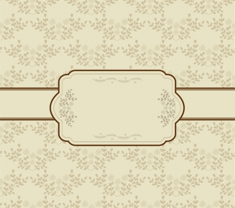 468x415 Vintage Background Seamless Flowers Decoration Classical Frame