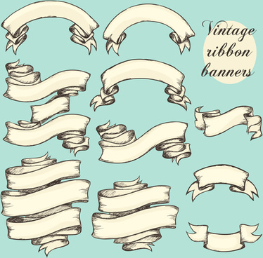 374x368 Hand Drawn Vintage Banner Vector Free Vector Download (20,765 Free