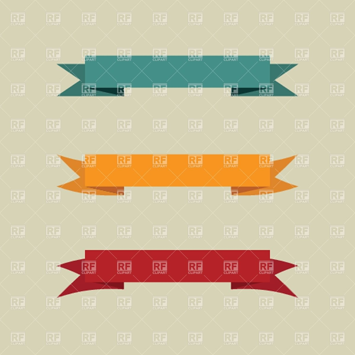 1200x1200 Set Of Simple Vintage Banners Vector Image Vector Artwork Of