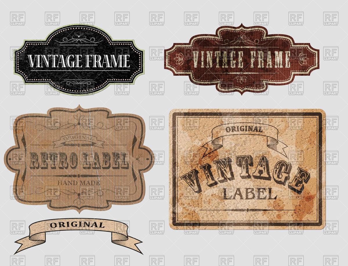 1200x917 Set Of Vintage Banners Vector Image Vector Artwork Of Design