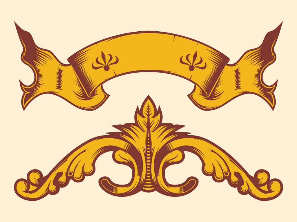 1024x765 Vintage Banner Decorations Free Vectors Ui Download