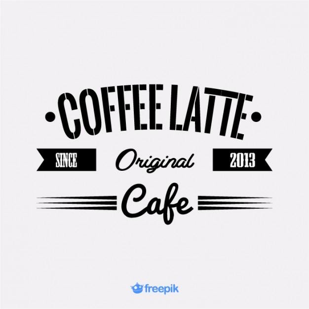 626x626 Vintage Banner Of Latte Vector Free Download