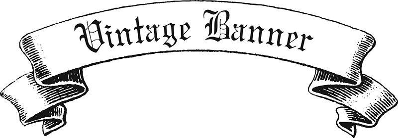 800x279 Vintage Ribbon Banner Vector