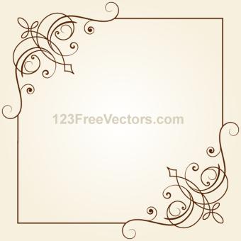 340x340 Antique Floral Borders Vectors Download Free Vector Art