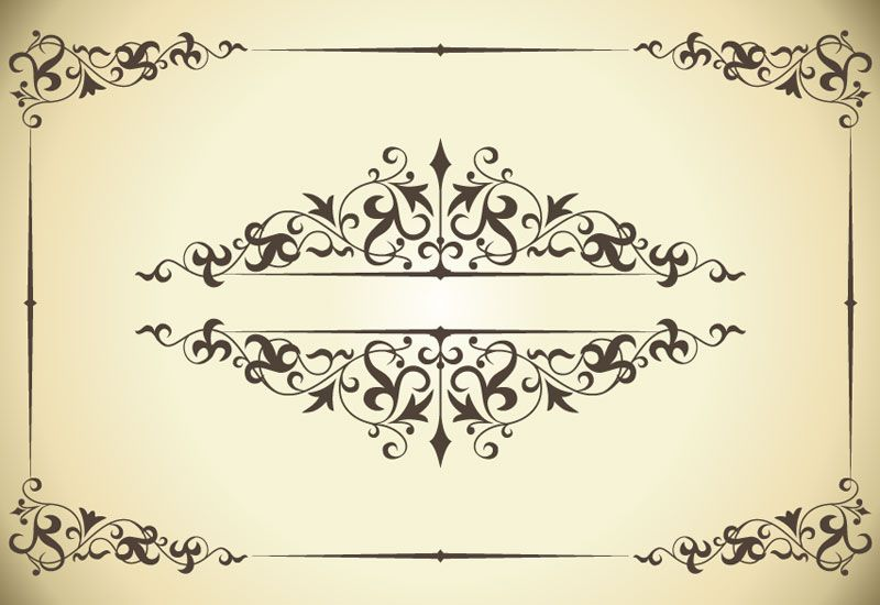 800x550 Free Vintage Printable Butterfly Borders Vintage Patterns Border