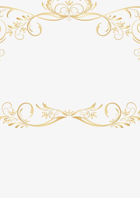 595x842 Gold Vintage Border Vintage Gold Lace Border Vector Retro Golden