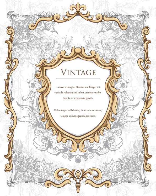 595x747 Vintage Frame Borders Vector