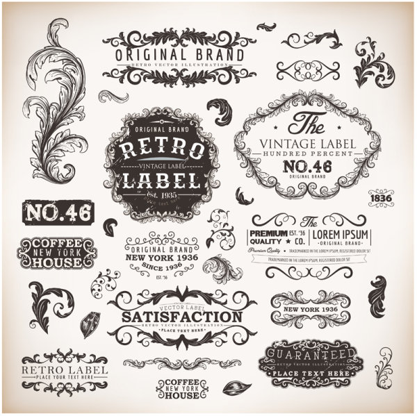 600x599 14 Vintage Lace Frame Vector Free Images